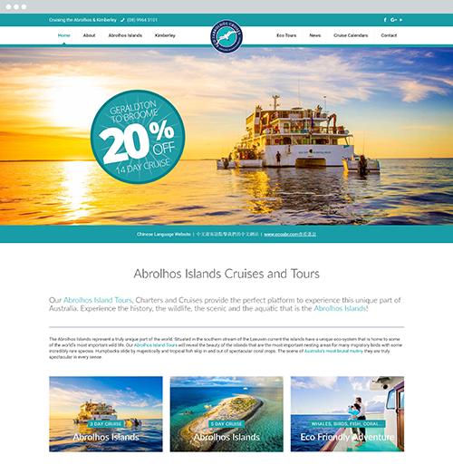 Eco Abrolhos - web design and website management