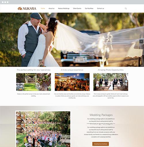 Nukara Weddings - Website Design