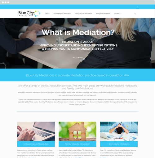 Blue City Meditions - Website Design