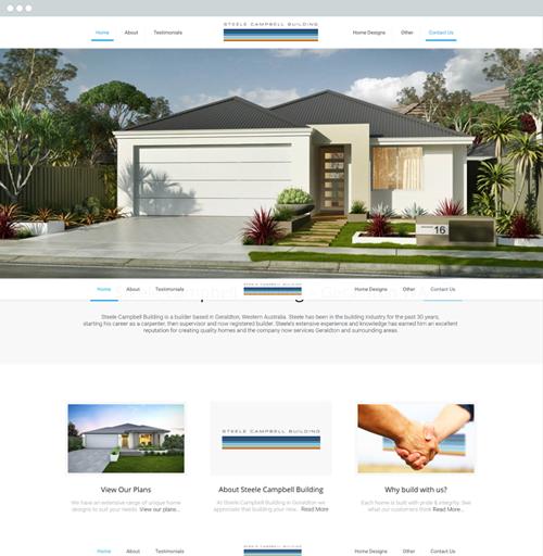 Geraldton Builder - Steele Campbell Builders - Website design