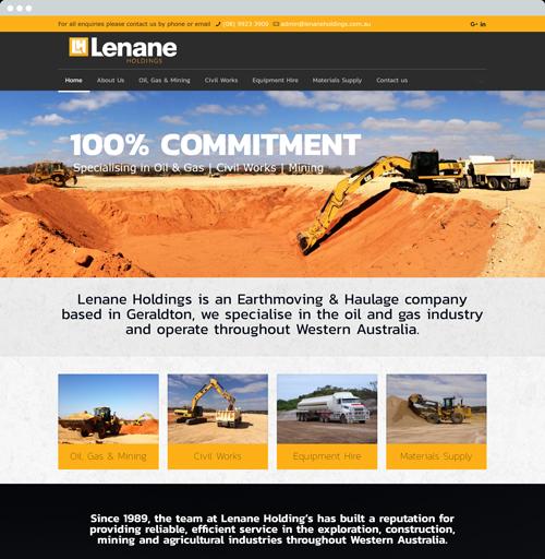 Lenane Holdings - Website Design