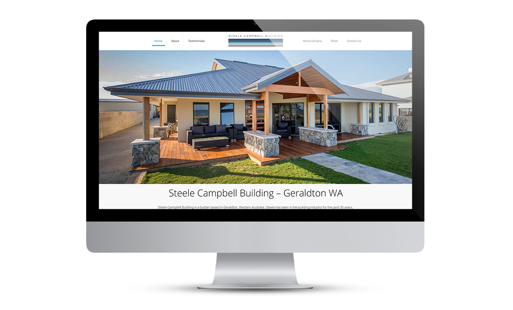 Website Design layout for Steele Campbell
