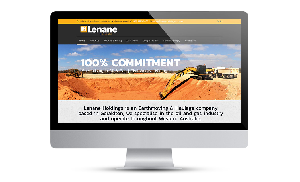 Lenenae Holdings Website Design