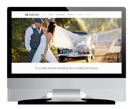 Nukara website Design on a monitor