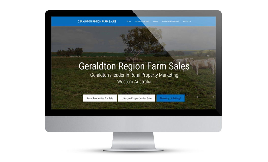Farm Sales website layout