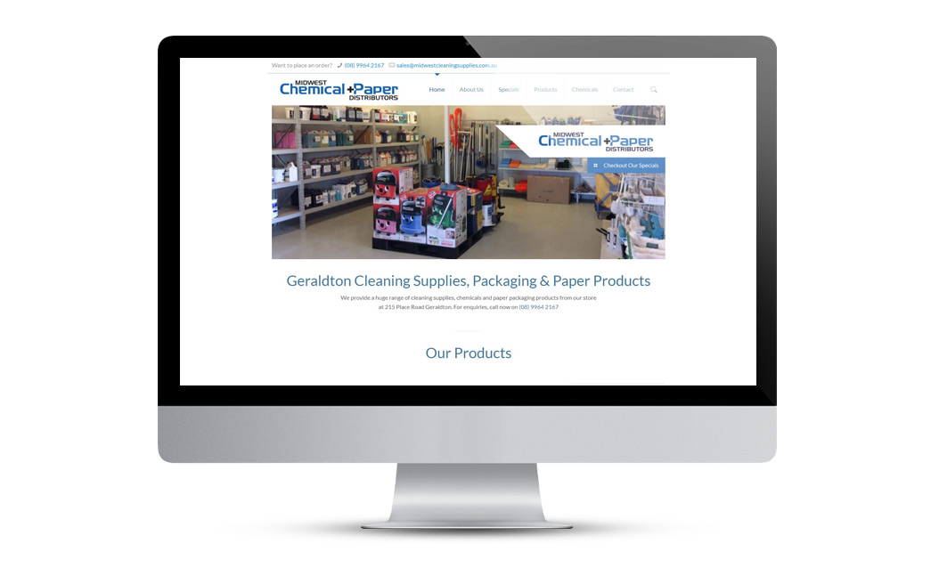 Website Designfor MW Chemical and Paper Dist